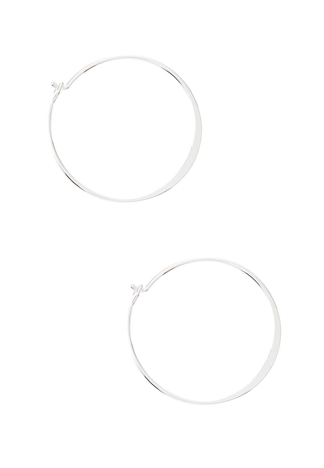 Thin Silver Hoop Earrings