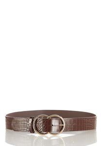 Plus Size Solid Croc Belt