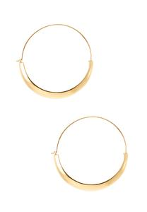Folded Metal Hoop Earrings