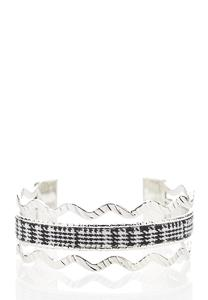 Houndstooth Metal Bangle Set