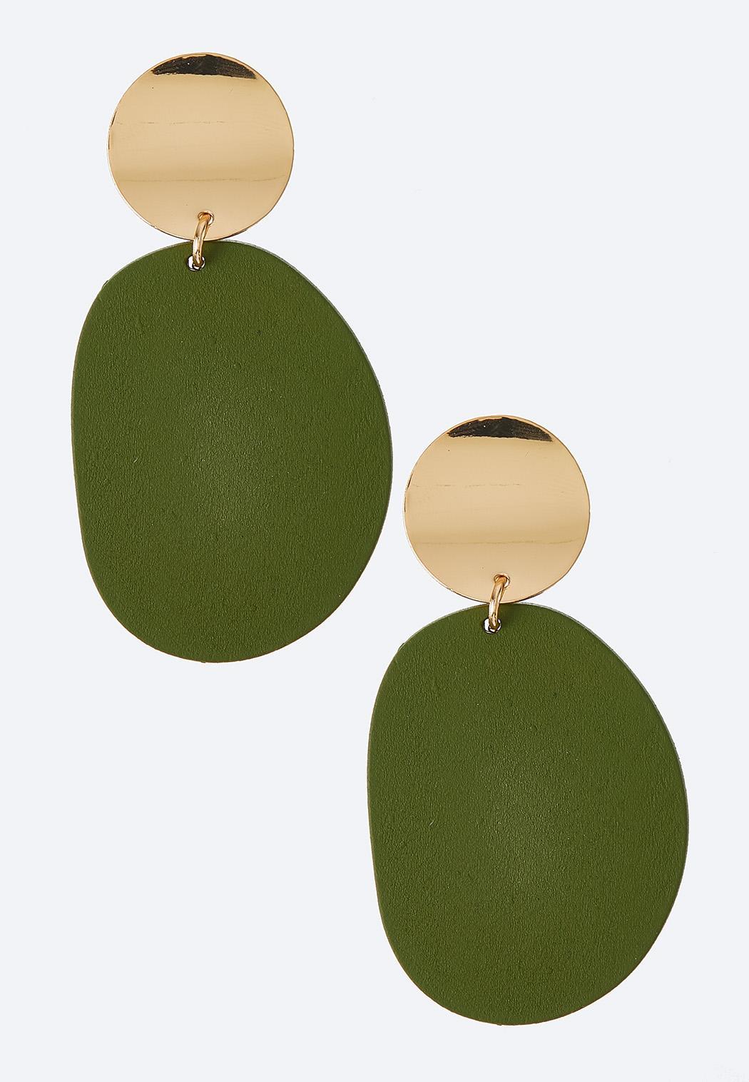 Wooden Citrus Clip-on Earrings
