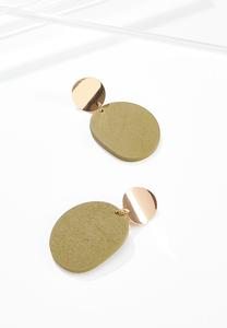 Wooden Olive Clip-on Earrings