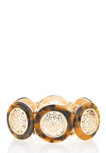 Tortoise Filigree Stretch Bracelet
