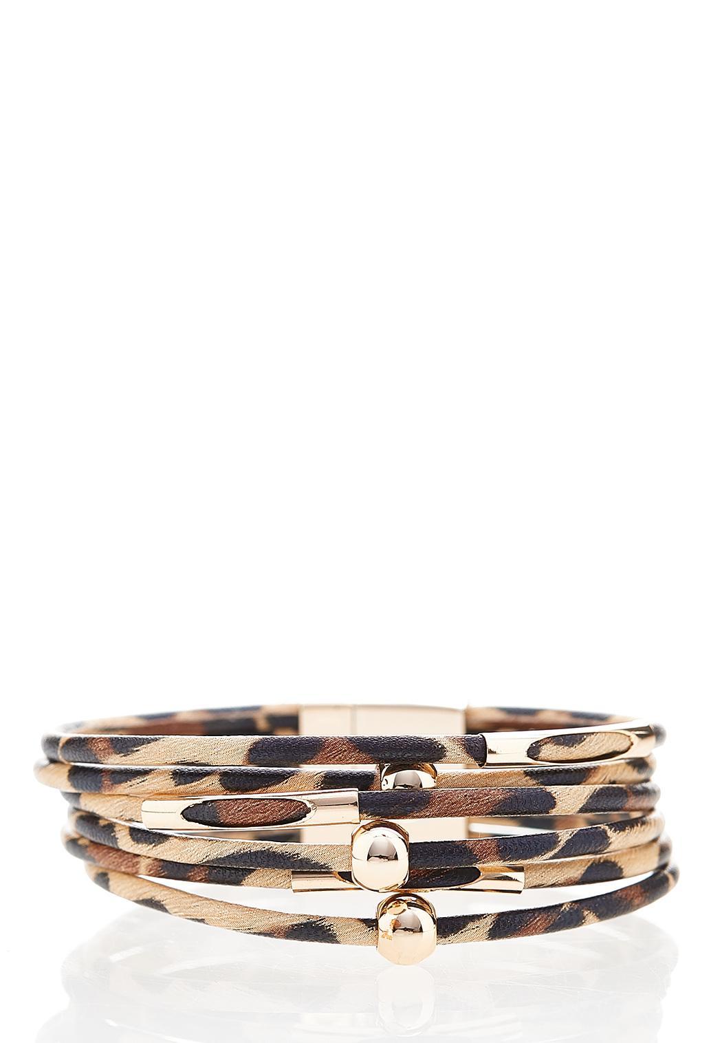 Leopard Multi Band Magnetic Bracelet