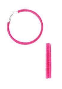Thread Hoop Earrings