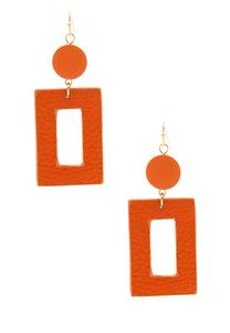 Geo Faux Leather Earrings
