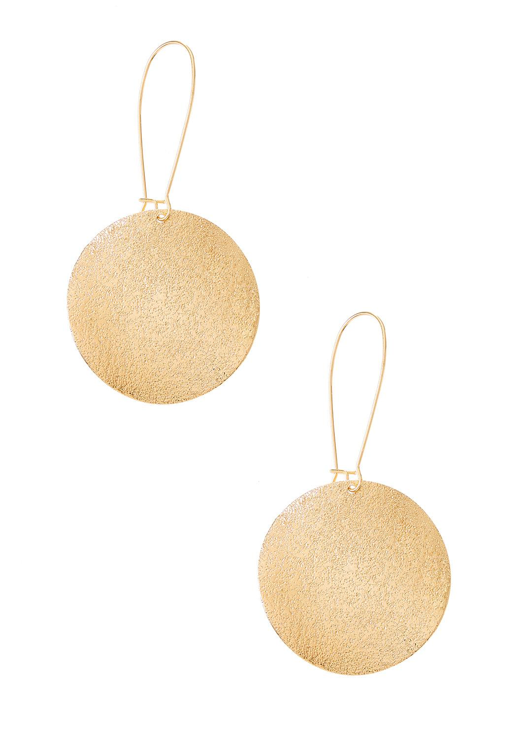 Textured Coin Earrings