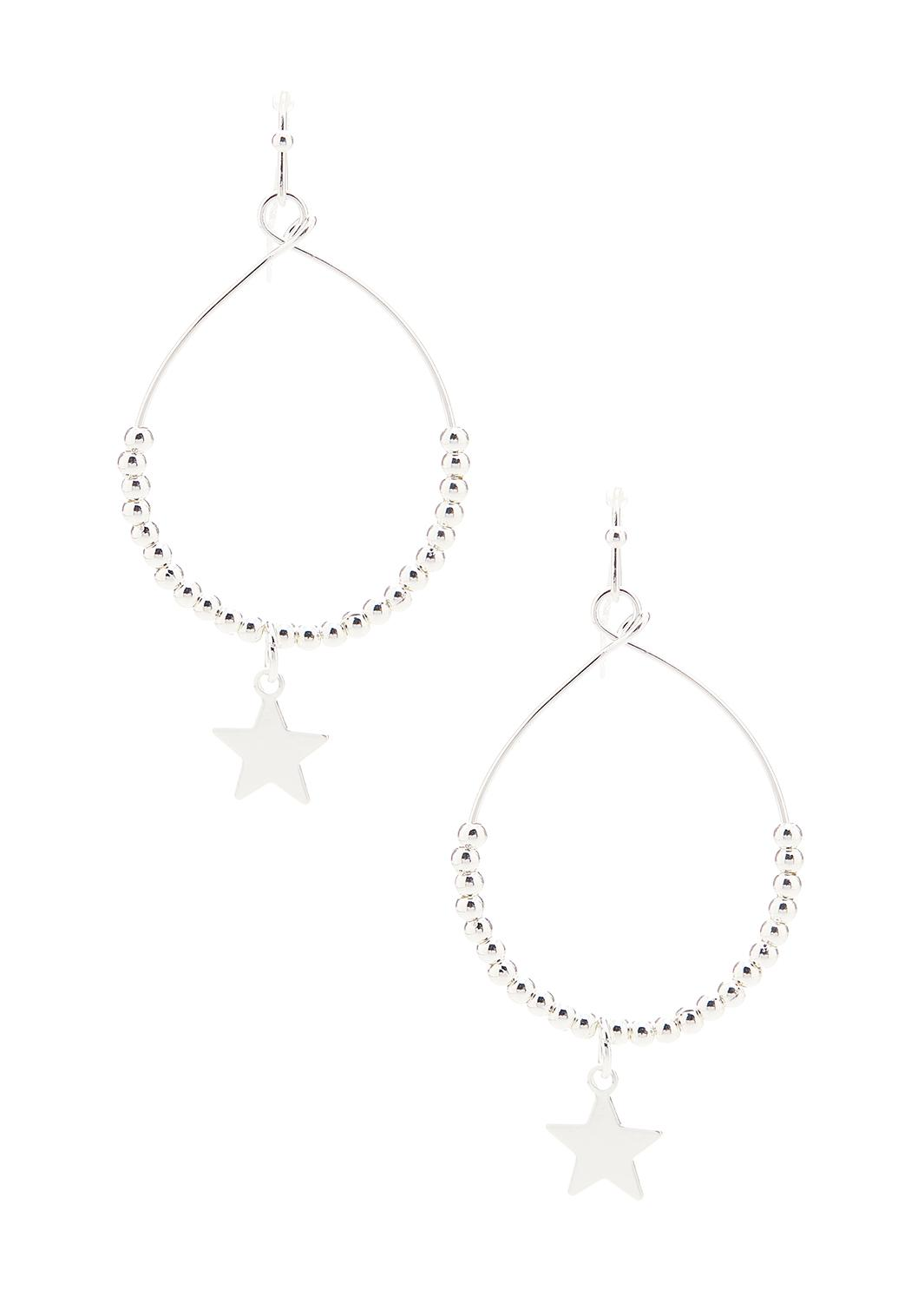 Beaded Star Charm Earrings