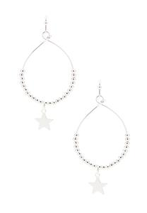 Beaded Star Charm Earrings