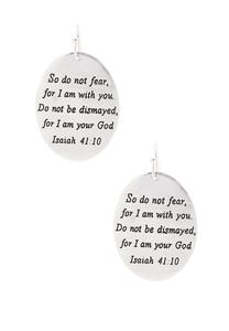 Engraved Do Not Fear Earrings