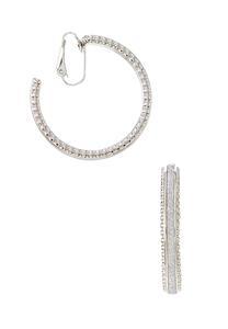 Glitter Hoop Clip-On Earrings