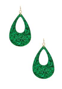 Glitter Tear Shaped Earrings