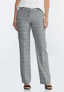 Plaid Trouser Pants