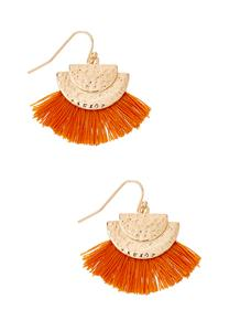 Crescent Fringe Earrings