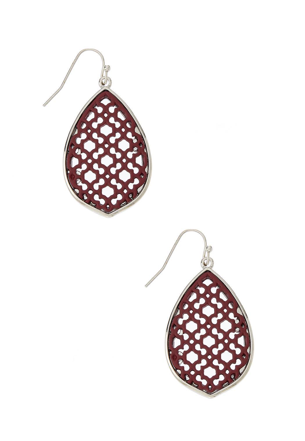 Filigree Enamel Moroccan Earrings
