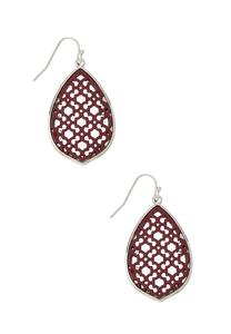Filigree Enamel Moroccan Earrings