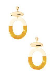 Resin Two-Toned Earrings