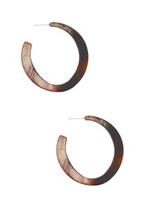 Earth Resin Hoop Earrings