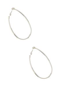 Oval Hoop Clip-On Earrings