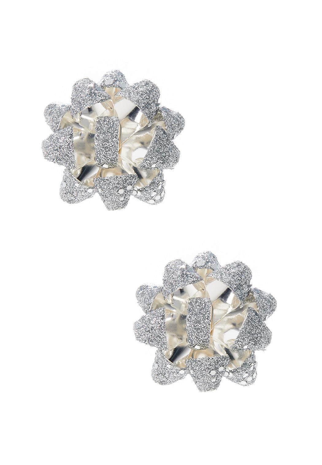 Silver Bow Earrings