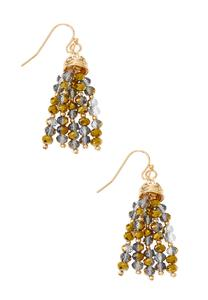 Rondelle Bead Tassel Earrings