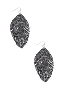 Glitter Feather Earrings