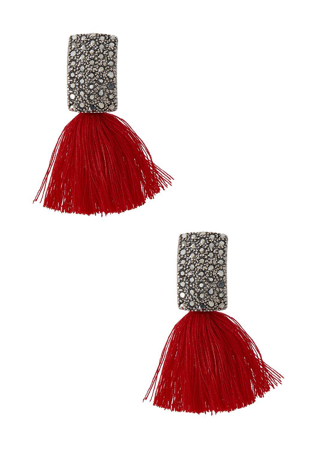 Tasseled Stone Post Earrings