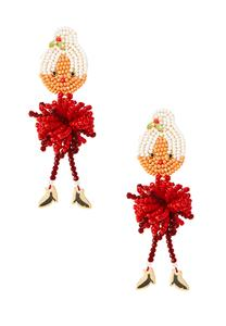 Mrs. Clause Seed Bead Earrings