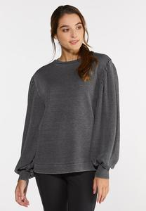 Plus Size Balloon Sleeve Sweatshirt