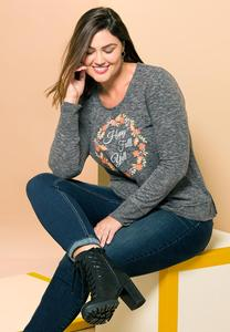 Plus Size Happy Fall Top
