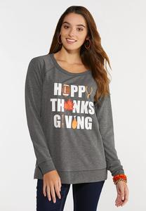 Plus Size Happy Thanksgiving Top