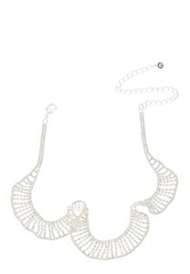 Rhinestone Ruffle Necklace