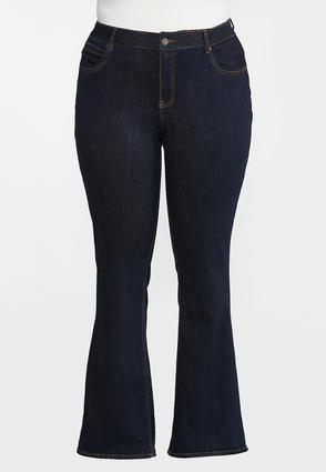 Plus Petite High- Rise Bootcut Jeans