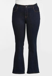 Plus Petite High-Rise Bootcut Jeans