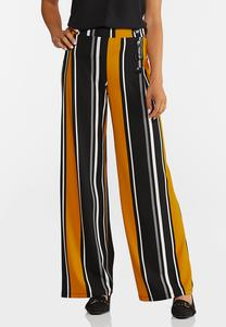 Golden Stripe Wide Leg Pants