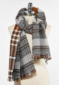 Caramel Plaid Scarf