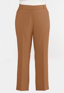 Plus Size Stretch Waist Trouser Pants
