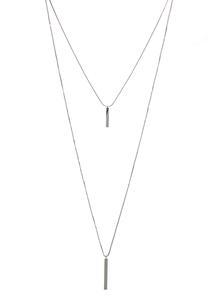 Layered Metal Bar Necklace