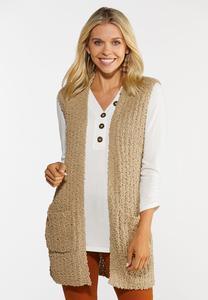 Teddy Duster Sweater Vest