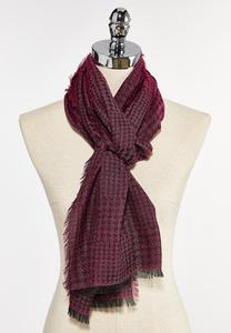 Frayed Houndstooth Scarf