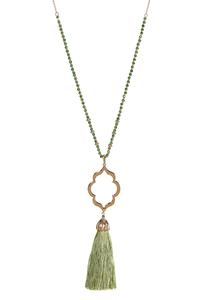 Moroccan Tassel Pendant Necklace