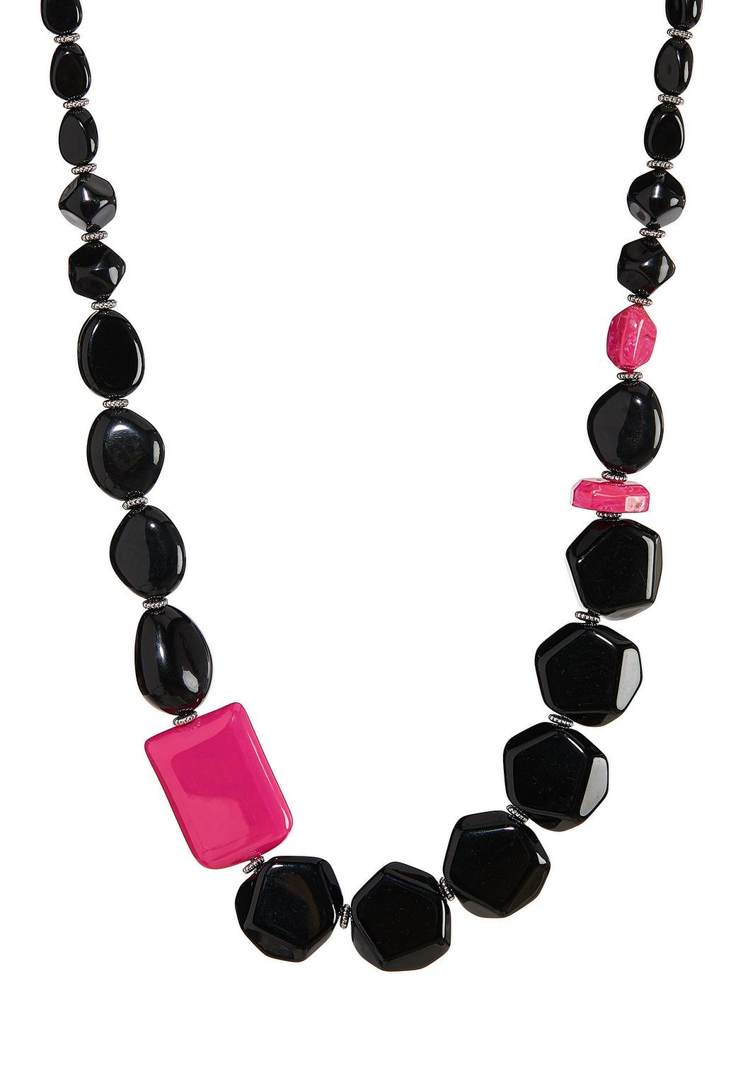 Pop Of Pink Bead Necklace