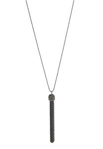 Hematite Long Tassel Necklace