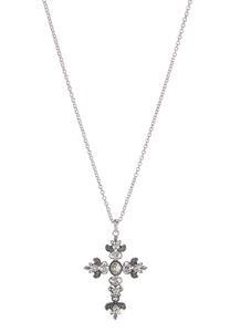 Jeweled Cross Pendant Necklace