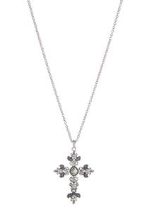 Jeweled Cross Pendant Necklace