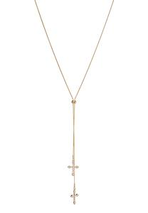Delicate Cross Lariat Necklace