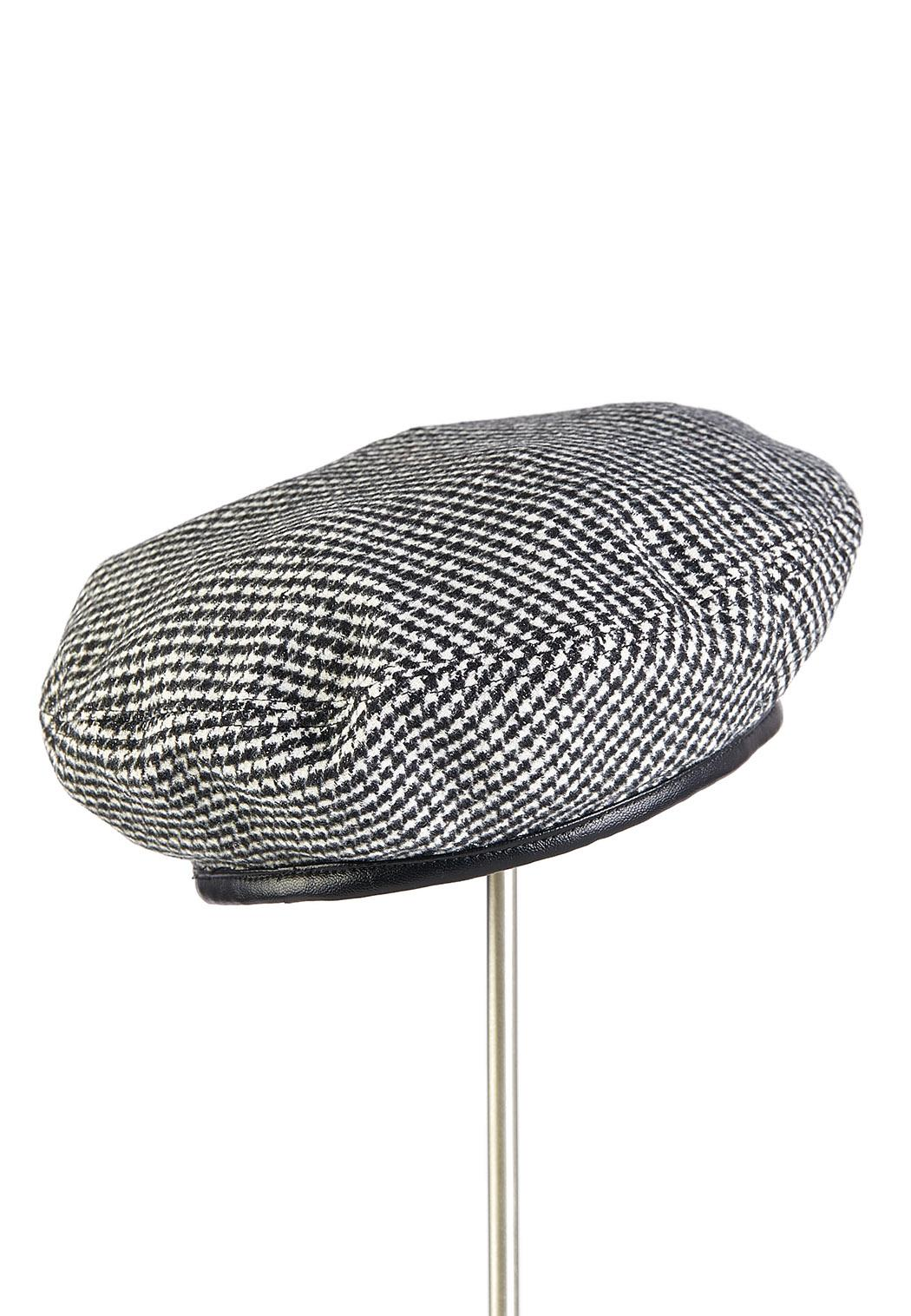 Houndtooth Beret Hat
