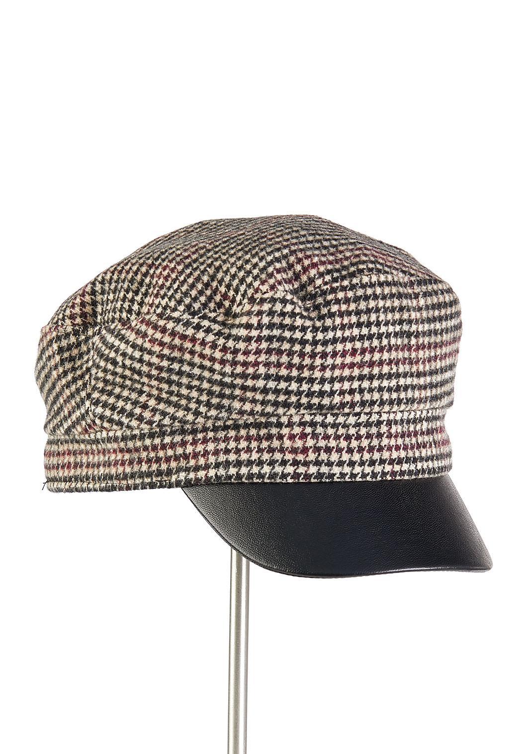 Houndstooth Cabbie Hat