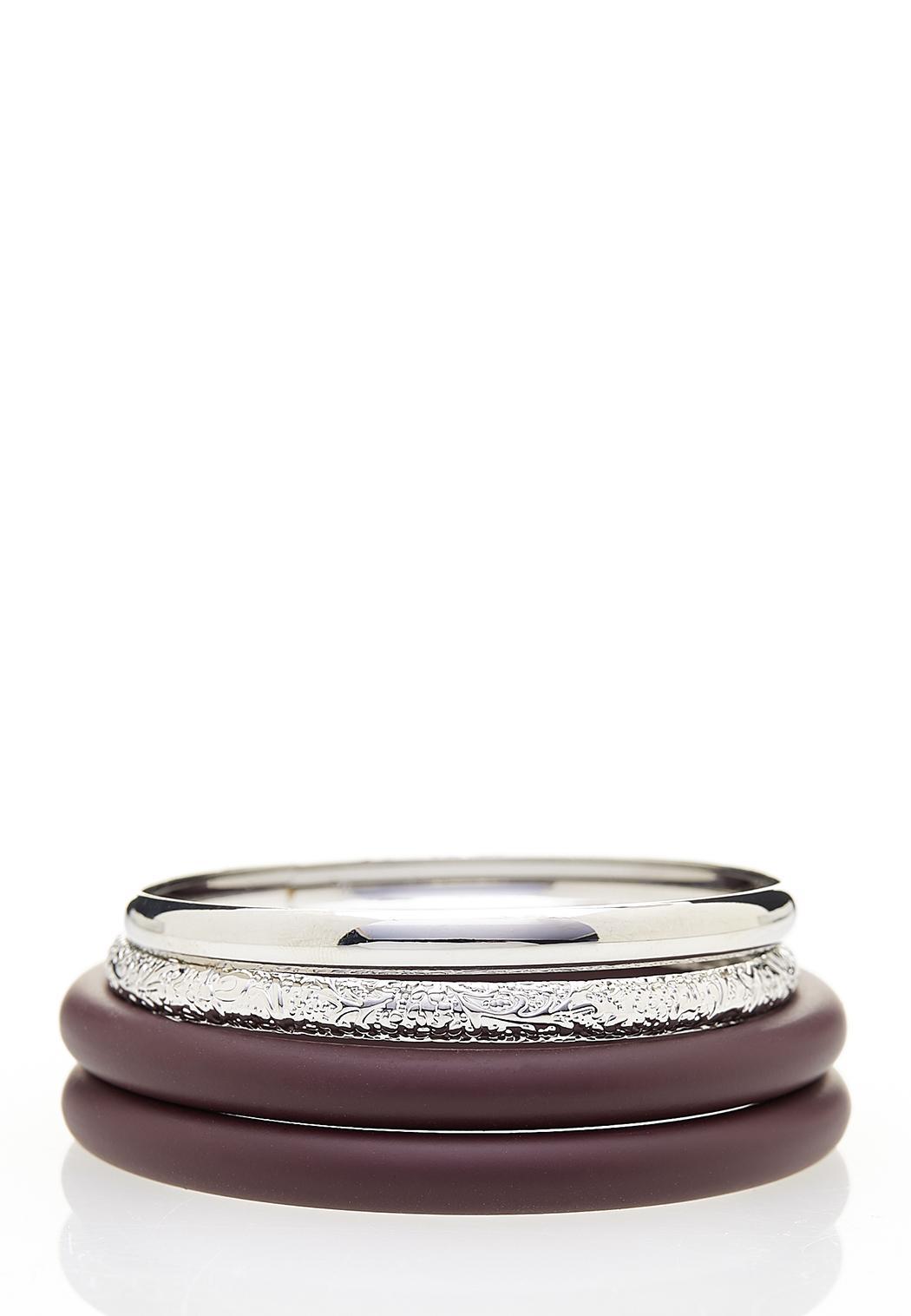 Two-Toned Bangle Bracelet Set
