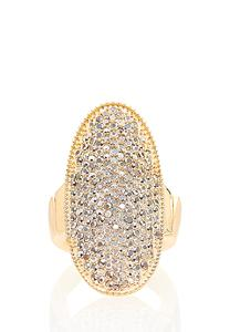 Pave Stretch Statement Ring